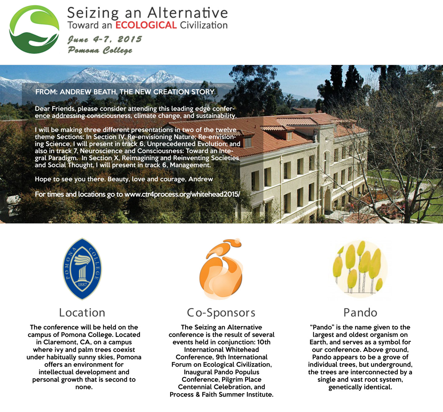 Seizing an Alternative Conference
